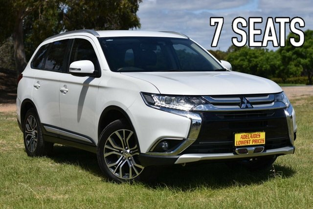 Used Mitsubishi Outlander ZK MY17 LS 4WD Safety Pack Enfield, 2016 Mitsubishi Outlander ZK MY17 LS 4WD Safety Pack White 6 Speed Sports Automatic Wagon