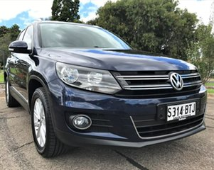 2015 Volkswagen Tiguan 5N MY16 130TDI DSG 4MOTION Blue 7 Speed Sports Automatic Dual Clutch Wagon.