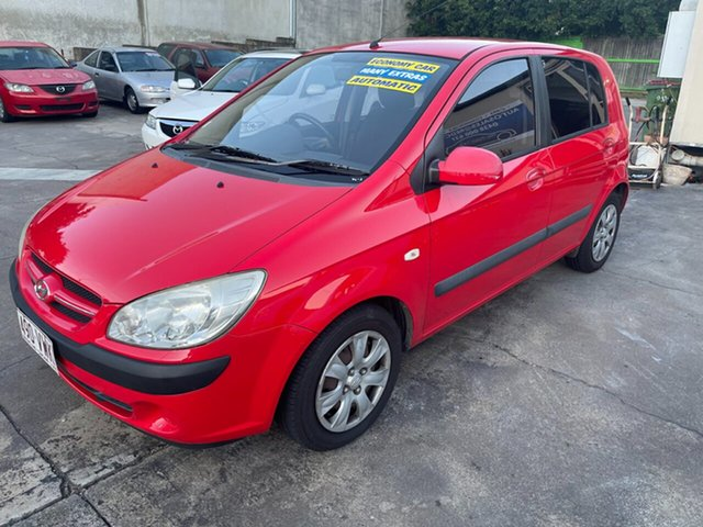 Used Hyundai Getz TB MY06 Clontarf, 2006 Hyundai Getz TB MY06 Red 4 Speed Automatic Hatchback