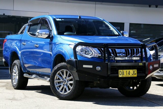 Used Mitsubishi Triton MQ MY16 GLS Double Cab Homebush, 2015 Mitsubishi Triton MQ MY16 GLS Double Cab Blue 5 Speed Sports Automatic Utility