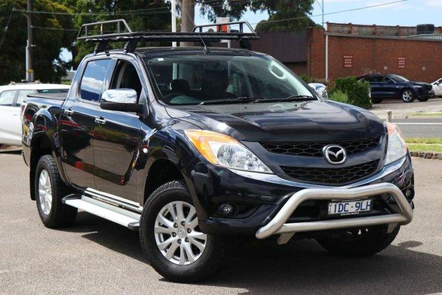Used Mazda BT-50 UP0YF1 XTR 4x2 Hi-Rider Nunawading, 2015 Mazda BT-50 UP0YF1 XTR 4x2 Hi-Rider Black 6 Speed Sports Automatic Utility