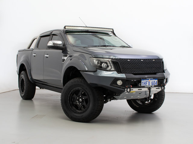 Used Ford Ranger PX XLT 3.2 (4x4), 2015 Ford Ranger PX XLT 3.2 (4x4) Grey 6 Speed Automatic Double Cab Pick Up