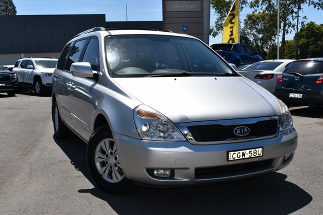 Used Kia Grand Carnival VQ MY12 S Tuggerah, 2012 Kia Grand Carnival VQ MY12 S Silver 6 Speed Sports Automatic Wagon