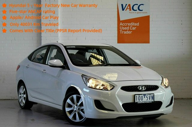 Used Hyundai Accent RB6 MY19 Sport Moorabbin, 2018 Hyundai Accent RB6 MY19 Sport White 6 Speed Sports Automatic Sedan