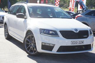 2015 Skoda Octavia NE MY15.5 RS Sedan DSG 162TSI White 6 Speed Sports Automatic Dual Clutch Liftback.