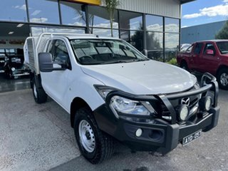 2018 Mazda BT-50 MY18 XT (4x4) White 6 Speed Manual Cab Chassis.