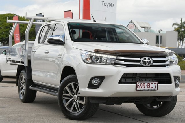 Pre-Owned Toyota Hilux GUN126R SR5 Double Cab Albion, 2017 Toyota Hilux GUN126R SR5 Double Cab Crystal Pearl 6 Speed Sports Automatic Utility