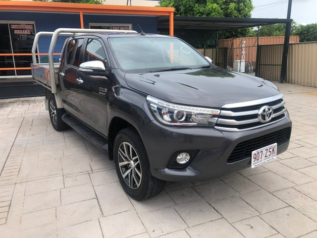 Used Toyota Hilux GUN126R SR5 Double Cab Mundingburra, 2016 Toyota Hilux GUN126R SR5 Double Cab Grey 6 Speed Sports Automatic Utility