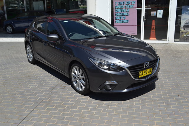 Used Mazda 3 BM5438 SP25 SKYACTIV-Drive Maitland, 2016 Mazda 3 BM5438 SP25 SKYACTIV-Drive Grey 6 Speed Sports Automatic Hatchback