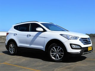 2012 Hyundai Santa Fe DM MY13 Elite White 6 Speed Sports Automatic Wagon