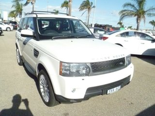 2010 Land Rover Range Rover Sport L320 11MY TDV6 White 6 Speed Sports Automatic Wagon.