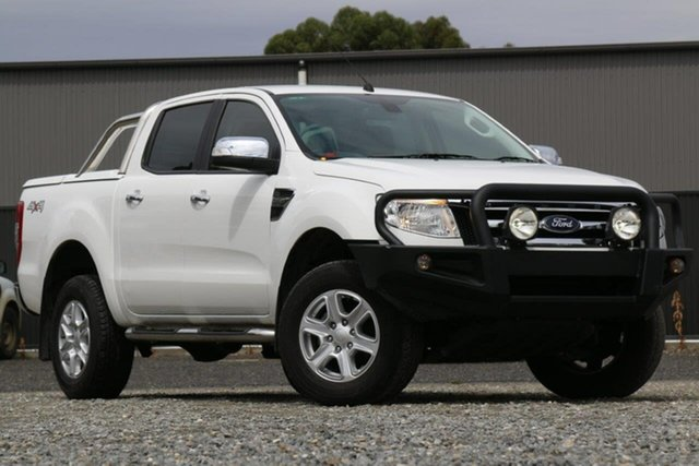 Used Ford Ranger PX XLT Double Cab Clare, 2015 Ford Ranger PX XLT Double Cab White 6 Speed Sports Automatic Utility