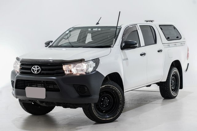 Used Toyota Hilux GUN125R Workmate Double Cab Berwick, 2017 Toyota Hilux GUN125R Workmate Double Cab White 6 Speed Sports Automatic Utility