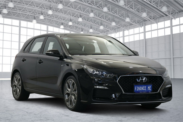 Used Hyundai i30 PD.3 MY19 N Line D-CT Premium Victoria Park, 2019 Hyundai i30 PD.3 MY19 N Line D-CT Premium Black 7 Speed Sports Automatic Dual Clutch Hatchback