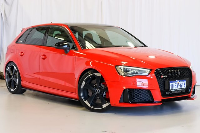 Used Audi RS 3 8V MY16 Sportback S Tronic Quattro Wangara, 2016 Audi RS 3 8V MY16 Sportback S Tronic Quattro Red 7 Speed Sports Automatic Dual Clutch Hatchback