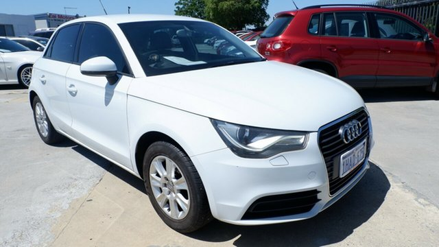 Used Audi A1 8X MY12 Sport Sportback S Tronic St James, 2012 Audi A1 8X MY12 Sport Sportback S Tronic White 7 Speed Sports Automatic Dual Clutch Hatchback