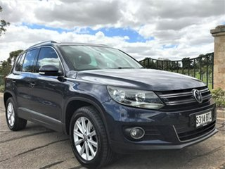 2015 Volkswagen Tiguan 5N MY16 130TDI DSG 4MOTION Blue 7 Speed Sports Automatic Dual Clutch Wagon