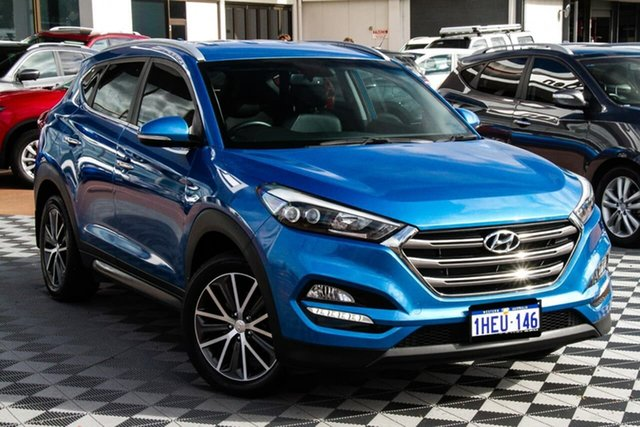 Used Hyundai Tucson TLE Elite 2WD Attadale, 2016 Hyundai Tucson TLE Elite 2WD Blue 6 Speed Sports Automatic Wagon