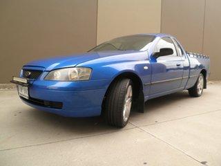 2005 Ford Falcon BA Mk II XLS Ute Super Cab Shock Wave Blue 4 Speed Sports Automatic Utility.