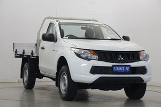 2018 Mitsubishi Triton MQ MY18 GLX 4x2 White 5 Speed Sports Automatic Cab Chassis.