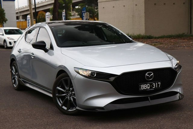 Used Mazda 3 BP2H7A G20 SKYACTIV-Drive Touring South Melbourne, 2019 Mazda 3 BP2H7A G20 SKYACTIV-Drive Touring Sonic Silver 6 Speed Sports Automatic Hatchback