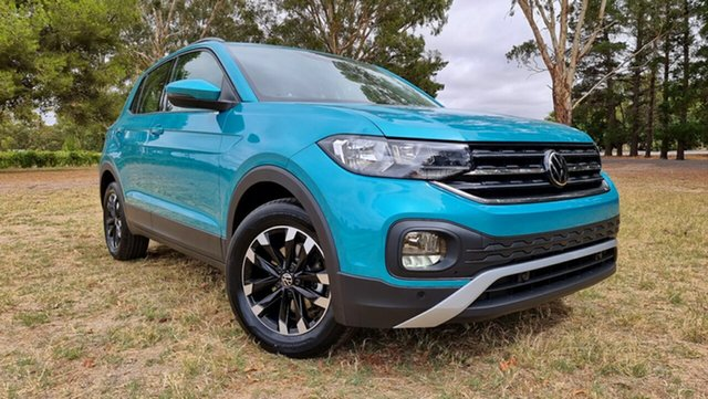 New Volkswagen T-Cross C1 MY21 85TSI DSG FWD Life Tanunda, 2020 Volkswagen T-Cross C1 MY21 85TSI DSG FWD Life Makena Turquoise Metallic 7 Speed