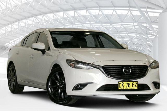 Used Mazda 6 GJ1032 GT SKYACTIV-Drive Moorebank, 2016 Mazda 6 GJ1032 GT SKYACTIV-Drive Snowflake White 6 Speed Sports Automatic Sedan