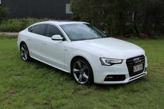 2014 Audi A5 8T MY14 Sportback S Tronic Quattro White 7 Speed Sports Automatic Dual Clutch Hatchback