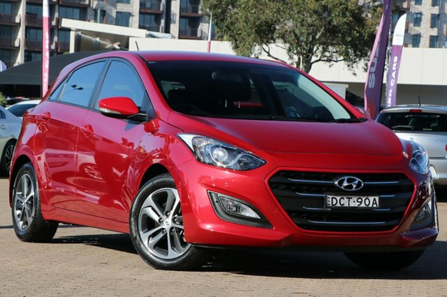 Used Hyundai i30 GD4 Series 2 Active X Rosebery, 2015 Hyundai i30 GD4 Series 2 Active X Red 6 Speed Automatic Hatchback