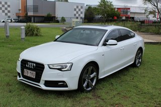 2014 Audi A5 8T MY14 Sportback S Tronic Quattro White 7 Speed Sports Automatic Dual Clutch Hatchback.