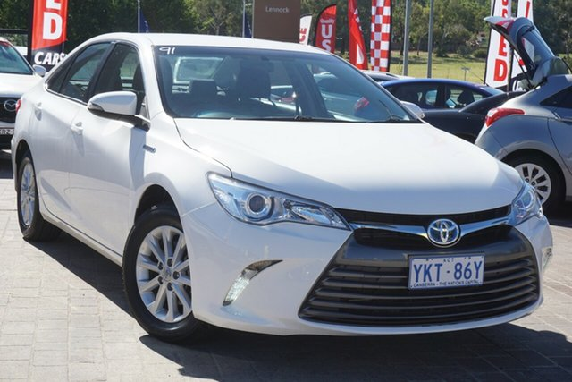Used Toyota Camry AVV50R Altise Phillip, 2015 Toyota Camry AVV50R Altise White 1 Speed Constant Variable Sedan