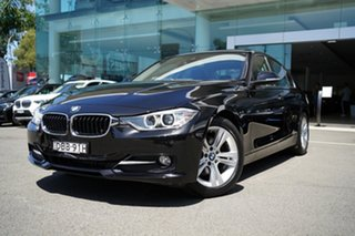 2015 BMW 320d F30 MY15 Upgrade Sport Line Black Sapphire 8 Speed Automatic Sedan.