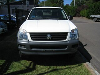 2004 Holden Rodeo RA LX White 4 Speed Automatic Space Cab Pickup.