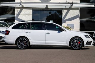 2018 Skoda Octavia NE MY18.5 RS DSG 169TSI White 6 Speed Sports Automatic Dual Clutch Wagon.