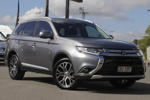 Used Mitsubishi Outlander ZK MY17 LS 4WD Safety Pack Rocklea, 2016 Mitsubishi Outlander ZK MY17 LS 4WD Safety Pack Titanium 6 Speed Constant Variable Wagon