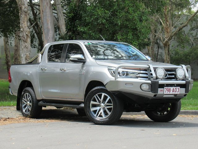 Used Toyota Hilux GUN126R SR5 Double Cab, 2016 Toyota Hilux GUN126R SR5 Double Cab Silver 6 Speed Sports Automatic Utility