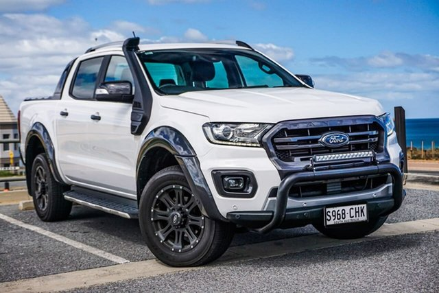 Used Ford Ranger PX MkIII 2019.75MY Wildtrak Christies Beach, 2019 Ford Ranger PX MkIII 2019.75MY Wildtrak White 6 Speed Sports Automatic Double Cab Pick Up