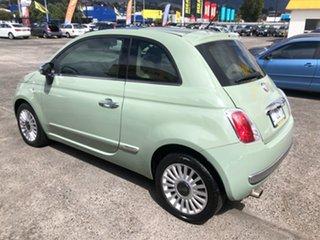 2008 Fiat 500 Series 1 Lounge Green 6 Speed Manual Hatchback.