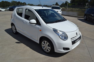 2012 Suzuki Alto GF GLX White 5 Speed Manual Hatchback.