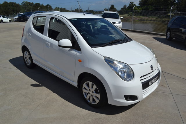 Used Suzuki Alto GF GLX Maitland, 2012 Suzuki Alto GF GLX White 5 Speed Manual Hatchback