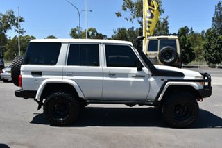 2012 Toyota Landcruiser VDJ76R MY10 Workmate White 5 Speed Manual Wagon.