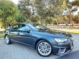 2018 Audi A4 B9 8W MY19 35 TFSI S Tronic S Line Grey 7 Speed Sports Automatic Dual Clutch Sedan.
