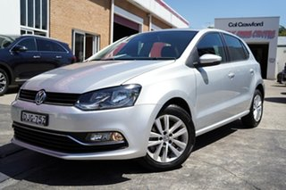 2016 Volkswagen Polo 6R MY16 81 TSI Comfortline Silver 7 Speed Auto Direct Shift Hatchback.