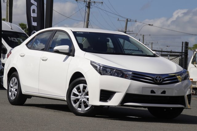 Used Toyota Corolla ZRE172R Ascent S-CVT Rocklea, 2015 Toyota Corolla ZRE172R Ascent S-CVT Glacier White 7 Speed Constant Variable Sedan
