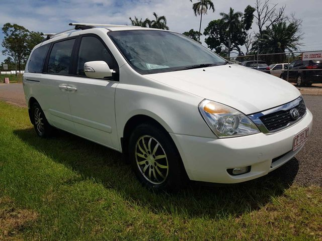 Used Kia Grand Carnival VQ MY14 SLi Pinelands, 2013 Kia Grand Carnival VQ MY14 SLi White 6 Speed Sports Automatic Wagon