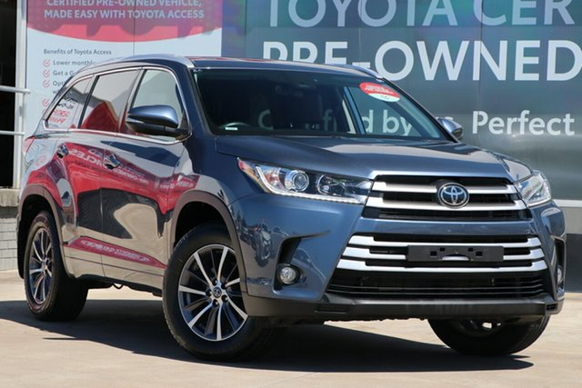 Pre-Owned Toyota Kluger GSU50R GXL 2WD Guildford, 2019 Toyota Kluger GSU50R GXL 2WD Cosmos Blue 8 Speed Automatic Wagon