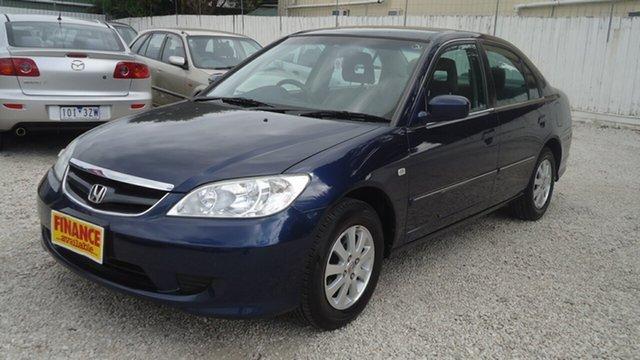Used Honda Civic 7th Gen MY2004 GLi Seaford, 2005 Honda Civic 7th Gen MY2004 GLi Blue 4 Speed Automatic Sedan