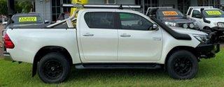 2017 Toyota Hilux GUN126R SR5 Double Cab White 6 Speed Sports Automatic Utility.