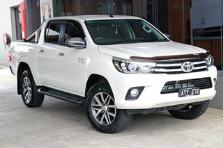 2017 Toyota Hilux GUN126R SR5 Double Cab Crystal Pearl 6 Speed Sports Automatic Utility.