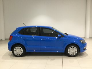 2016 Volkswagen Polo 6R MY16 66TSI DSG Trendline Blue 7 Speed Sports Automatic Dual Clutch Hatchback.